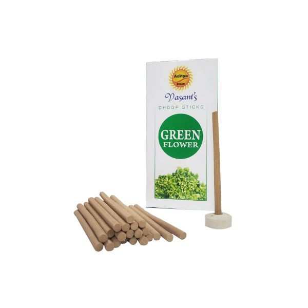 Picture of Green Flower Dhoop Sticks